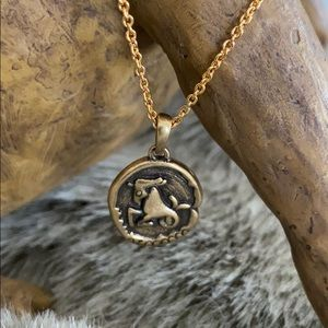 The Elizabeth Taylor Zodiac Necklace Capricorn NEW